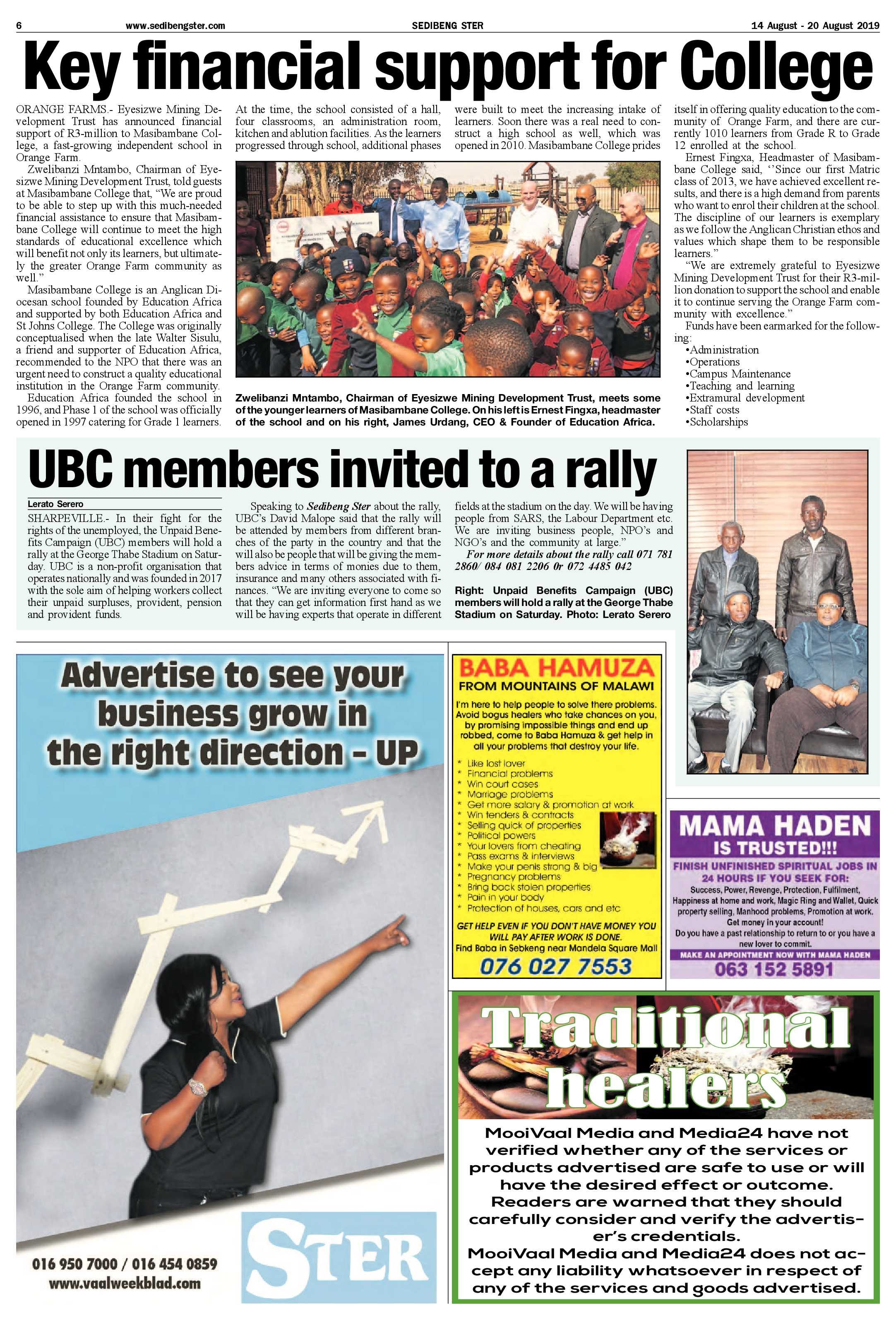 Sedibeng Ster 14 – 20 August 2019 | Sedibeng Ster
